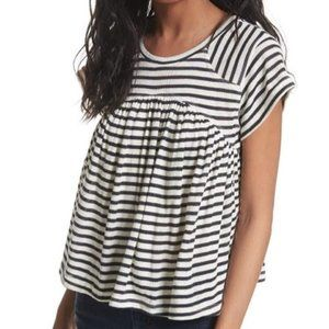 Free People Jojo black white striped top Medium